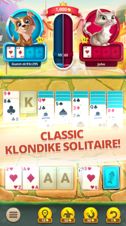 Solitaire Pets – Multiplayer Klondike Card Game